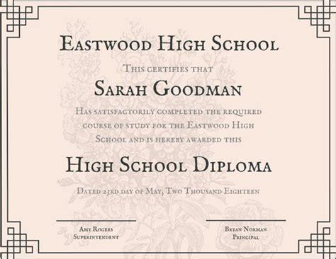 diploma courses free customize 325 high school diploma certificate templates