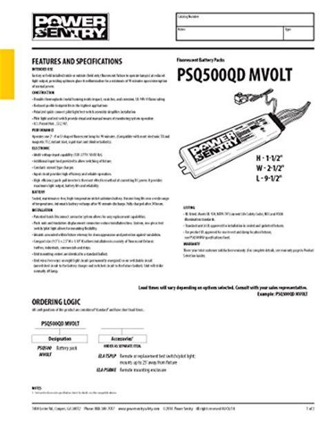 Lithonia Lighting Psqqd Mvolt Power Sentry