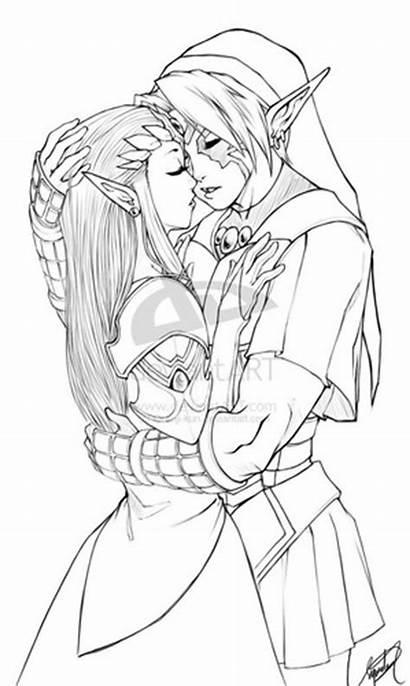Zelda Princess Fan Legend Pages Kun Coloring