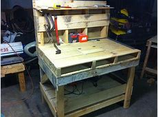 Pallet bench howto from Youtube I could see using this