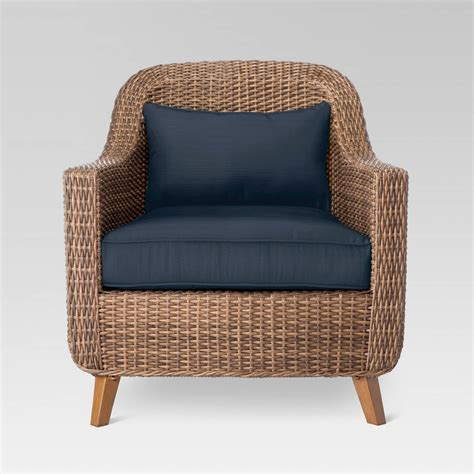 mayhew all weather wicker patio club chair threshold ebay