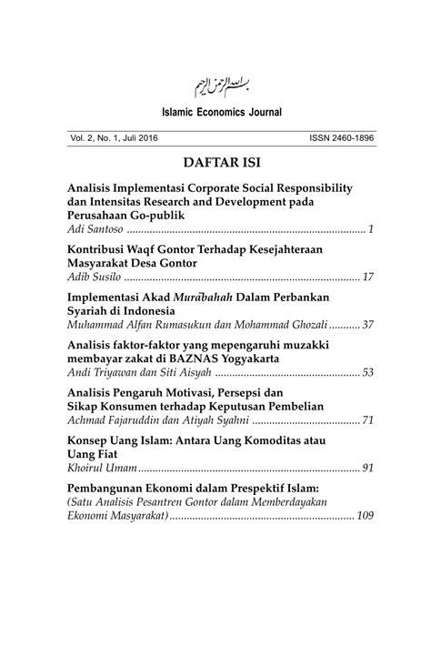 (PDF) Pembangunan Ekonomi dalam Prespektif Islam: (Satu