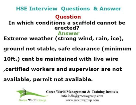 safety officer question and answer www