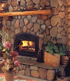 river rock fireplaces ideas  pinterest rock