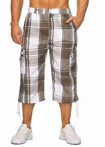Cargo shorts herren kariert