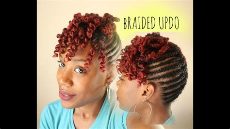 Braided Updo With Curly Bang