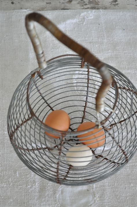 wire egg basket becky s farmhouse