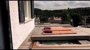 terrassendeck whirlpoolabdeckung automatisch youtube With whirlpool garten mit balkon terrasse abdichten