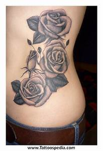 black n white flower tattoos 4