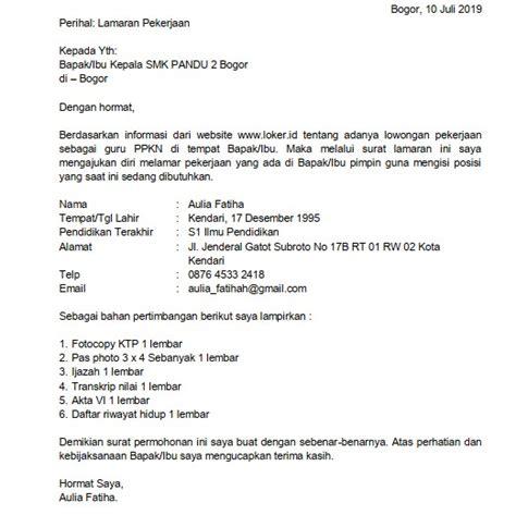 Contoh Kepala Surat Lamaran Kerja by 35 Contoh Surat Lamaran Kerja Guru Doc Pdf