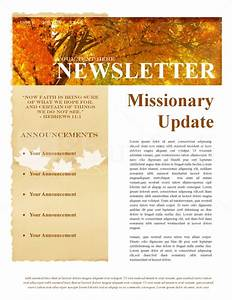 fall missionary update newsletter template newsletter With missionary newsletter templates