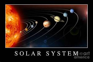 Solar System Poster Digital Art by Stocktrek Images