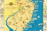 Amazing map of New Jersey filled with historical trivia ...