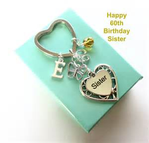 60th birthday gift for Sister - Personalised Sister keyring - Butterfly keyring - Gift for Sister - 60th keyring - Sister birthday - UK