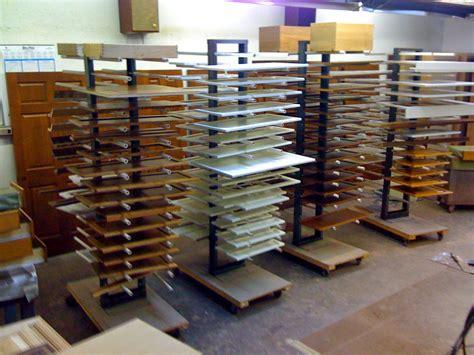 cabinet door finishing racks northshore finishing shop equipment