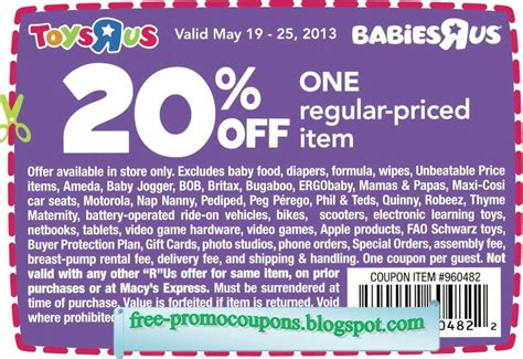 19247 Free Printable Toys R Us Coupons by Printable Coupons 2019 Babies R Us Coupons