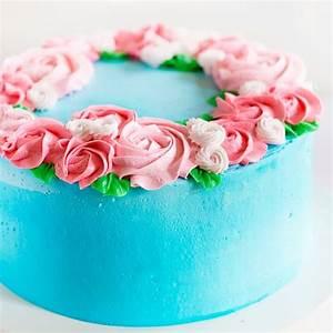 Mother's Day Cake {easy rosette's}   i am baker
