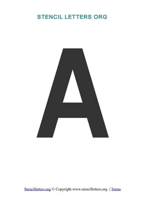 Letter A Template by Stencil Letters Free Printable Stencil Letters Fonts