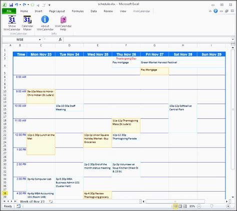 excel class schedule 6 college credit planner in excel sletemplatess sletemplatess