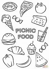 Coloring Picnic Pages Printable Crafts Paper Main Styles sketch template