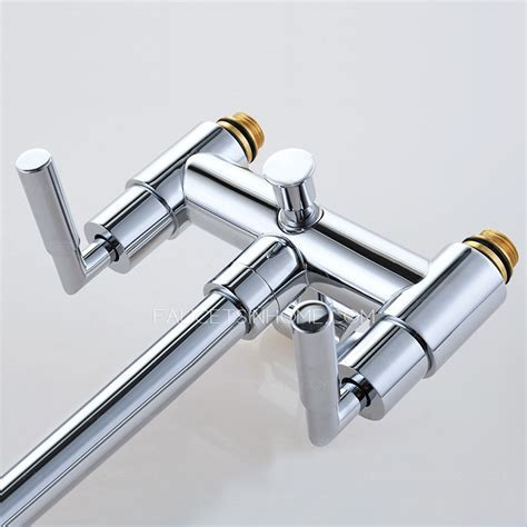 Freestanding Brass Bathtub Faucet With Hand Held Shower