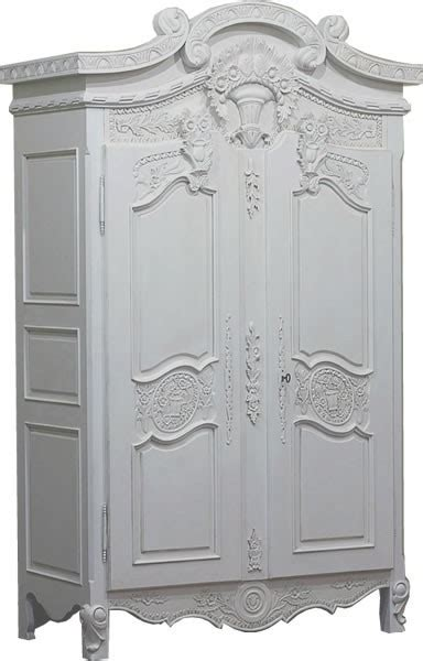 Small White Wardrobe by Small Versailles Armoire Antique White Crown