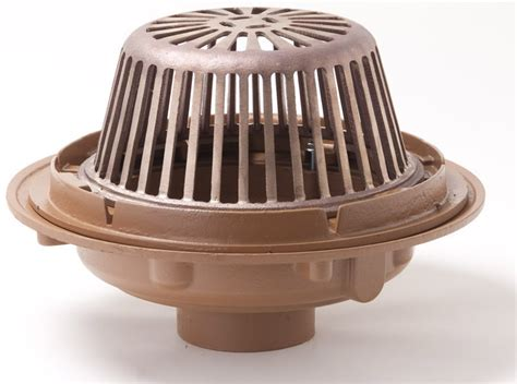 1010 1020 15 25 quot diameter roof drain low profile dome
