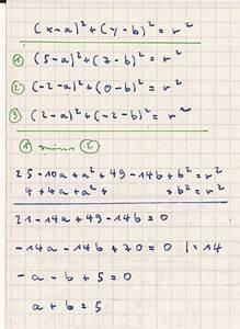 Kreismittelpunkt Berechnen : kreis mittelpunkt und radius von kreis mit drei punkten bestimmen mathelounge ~ Themetempest.com Abrechnung