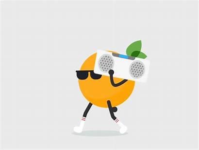 Orange Rock Dribbble Animation Animated Motion Hello