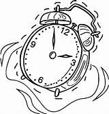 Clock Coloring Alarm Printable Cartoonized Wecoloringpage Sheets sketch template