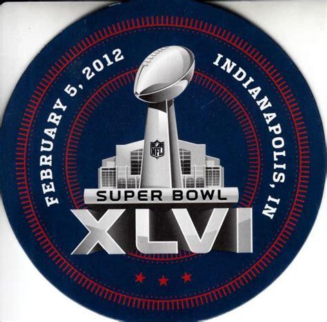 Super Bowl 46 Logo Coaster Nfl Football Memorabilia