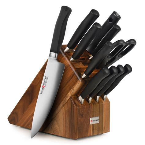 wusthof legende knife block set  piece cutlery