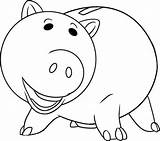 Toy Coloring Hamm Pig sketch template