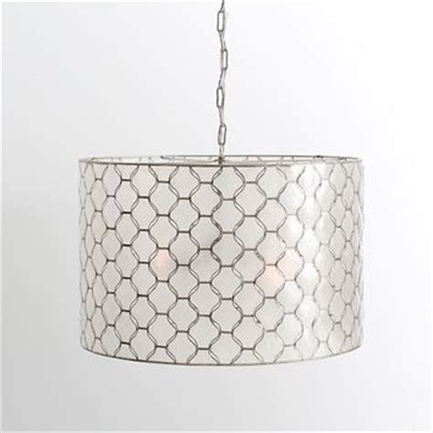 Capiz Drum Chandelier by Capiz Drum Pendant From Pottery Barn