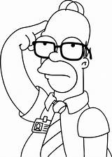 Simpsons Lisa Coloring Simpson Sideshow Bob Wonder sketch template
