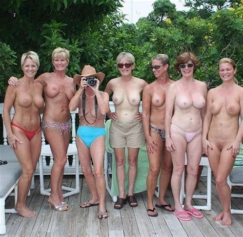 Milf Group Flashing Tits