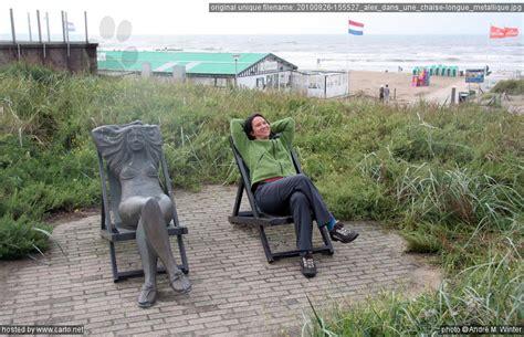 chaise longue de plage alex dans une chaise longue métallique scheveningen et