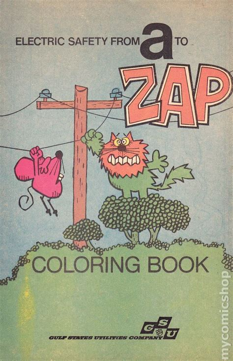 electric safety    zap coloring book  comic books