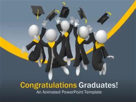 graduation leap  powerpoint template
