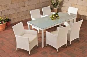 Polyrattan Stuhl Weiß : clp rattan sitzgruppe florenz 6 x polyrattan stuhl julia ~ A.2002-acura-tl-radio.info Haus und Dekorationen