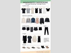 Minimalistische Garderobe Kleiderschrank effektiv