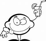 Coloring Lemonade Bing Lemon Limon Colorir Limonada Holding Cartoon Printable Dibujos Bebiendo Sheets Limao Bebendo Desenhos Nossos Secreta Bichos Vida sketch template