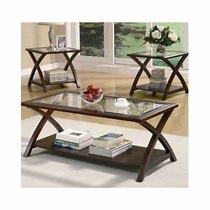 coffee end tables set of 3 living room side table glass With coffee table set of 4