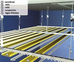 Faux Plafond Placo Sur Rail : comment poser un faux plafond ~ Melissatoandfro.com Idées de Décoration