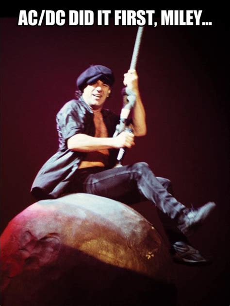 Acdc Meme - riding a wrecking ball ac dc dump a day