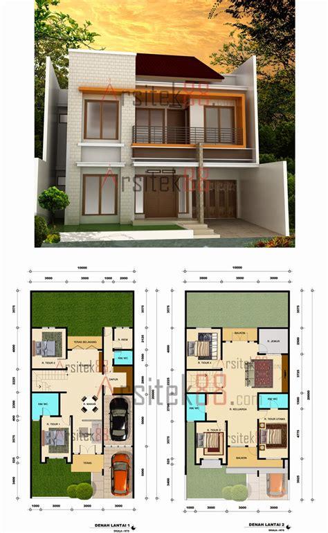 desain rumah minimalis  lantai  denahnya model rumah