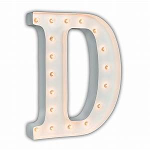 white 24 inch letter d marquee light by vintage marquee lights With marquee letter d
