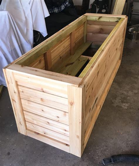 building a garden box backyard diy series part iiii cedar wood planter box