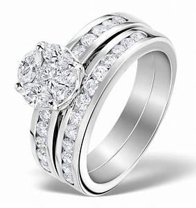 Matching Diamond Engagement And Wedding Ring 146ct