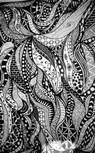 Abstract Zentangle Doodle